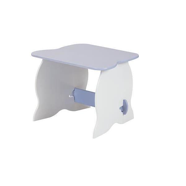 table pupitre bureau blanc et bleu gar on simple en bois achat vente bureau b b enfant. Black Bedroom Furniture Sets. Home Design Ideas