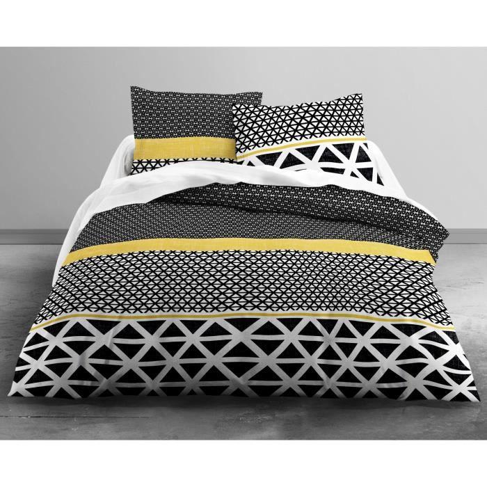 today parure de couette coton enjoy braza 1 housse de couette 200x200 cm 2 taies 63x63 cm. Black Bedroom Furniture Sets. Home Design Ideas