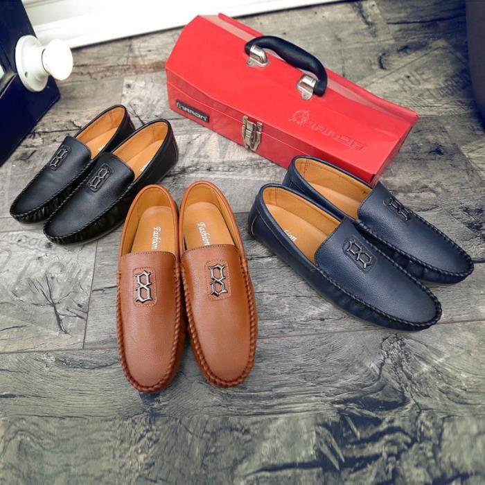Chaussures Homme Bateau en pu Chaussures de ville Chaussures plates Chaussures confortables et légères Chaussures originales en