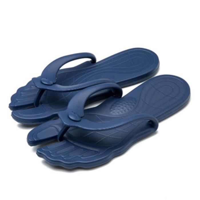 Fashion Beach Style Bleu Voyage Summer Sandales Portable Hommes Femmes Chaussons 06gxEE