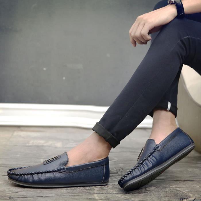 Chaussures Chaussures en Chaussures ville Chaussures originales Homme Bateau Chaussures légères plates de confortables en pu et qfxzq1nr