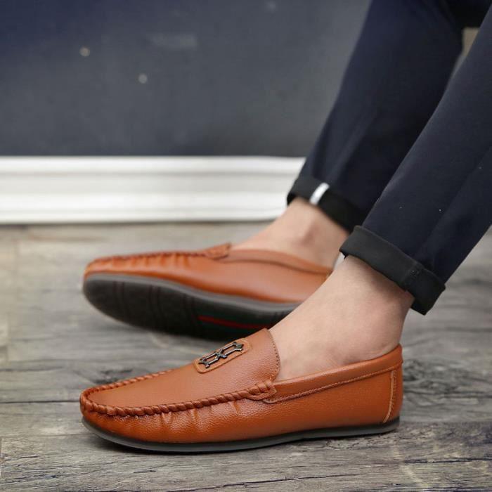 pu en Chaussures en de légères plates Homme confortables Chaussures et Chaussures Chaussures Bateau Chaussures ville originales t4qwaUH