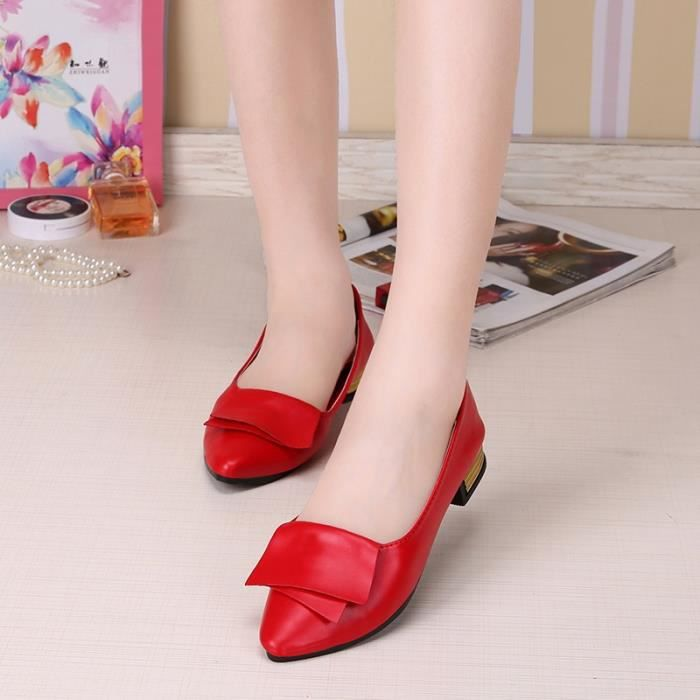 36 d'automne plates rouge chaussures mode occasionnels de plates dames chaussures simples la twBfWqP