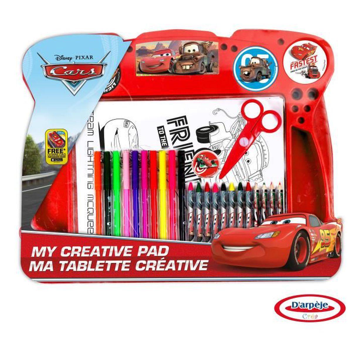 JEU DE COLORIAGE DESSIN POCHOIR CARS Tablette d activité Coloriage