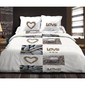 couette imprim e bicolore achat vente couette imprim e bicolore pas cher cdiscount. Black Bedroom Furniture Sets. Home Design Ideas