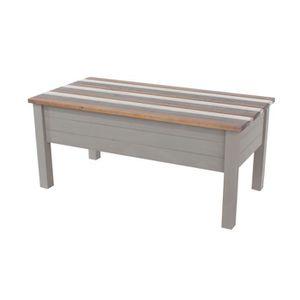 TABLE BASSE Table basse 107x54x47 cm gris blanc et naturel - S