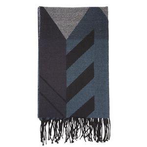 bc1677a0584a ECHARPE - FOULARD Echarpe plaid noir et bleu - Bleu - 86037-AAH-TU