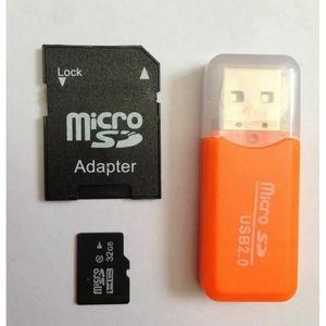 CARTE MÉMOIRE Carte Micro SD 32 Go classe 10 smartphone tablette