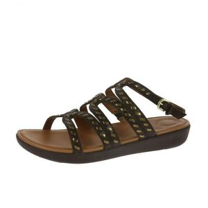 FitFlop Strata Toe Thong Leather Black-Taille 40 kHB1lIWbaa
