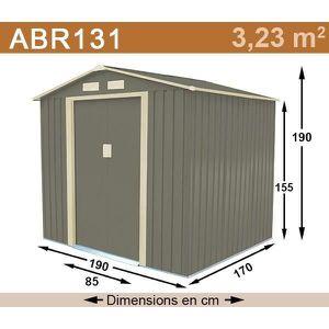 ABRI JARDIN - CHALET Abri de jardin métal 3,23 m2. + kit d'ancrage incl