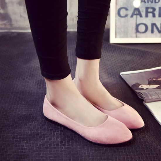 Chaussures@ Femmes occasionnelles OL chaussure plate Rose + 38 Rose Rose - Achat / Vente slip-on
