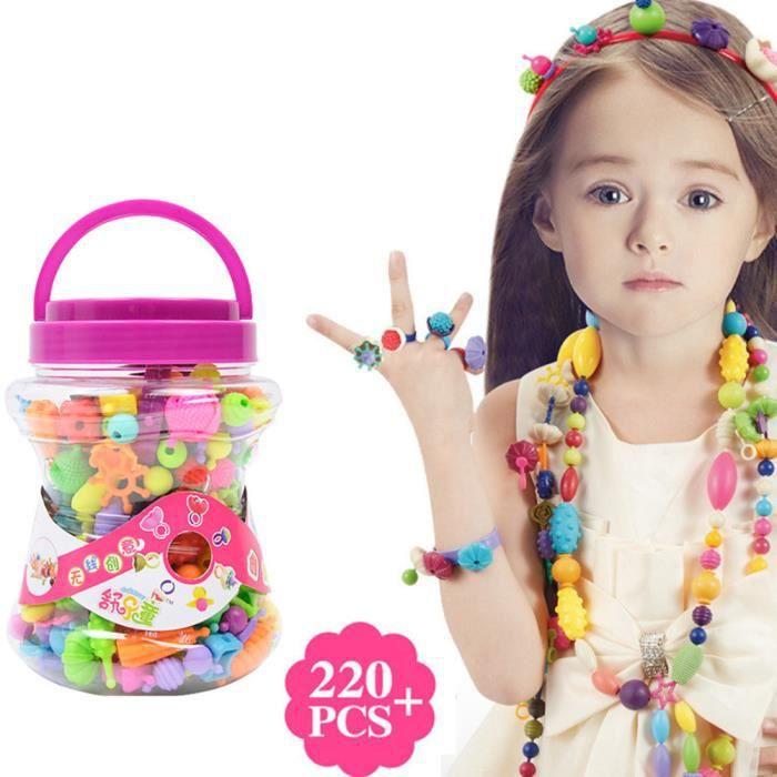Lot Création Bague Fille 220 De Cadeau Colorées Collier Pour Pcs Bijoux Bracelet Jeu Enfant Perles c4jq53RLAS