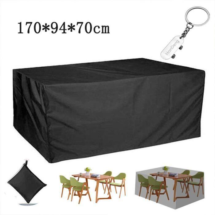Housse de Protection Couvre 210D Oxford Tissu Coupe Vent et Anti UV pour Jardin De Patio en Plein Air (170x94x70cm)