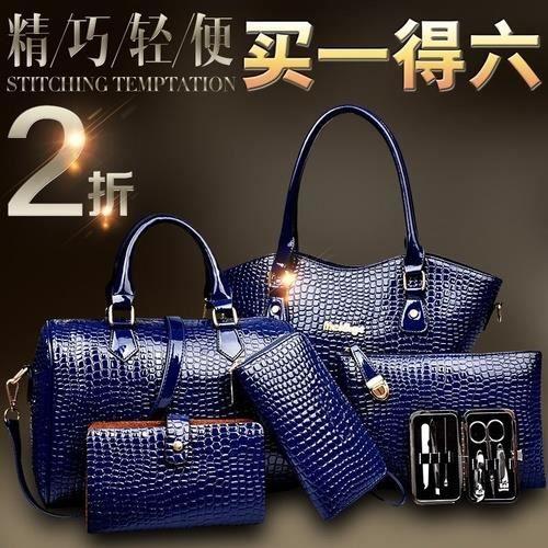 sac à main JaunePicture Package Big Messenger épaule Six Mains Loaded motif crocodile no.6713