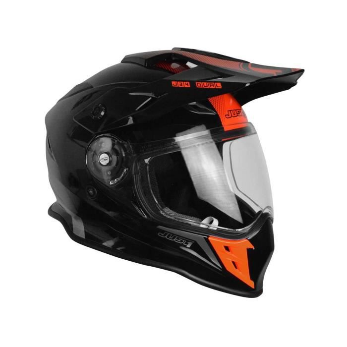 Casque Enduro Just1 J34 Adventure Shape Rouge Neon Gloss Taille Xl