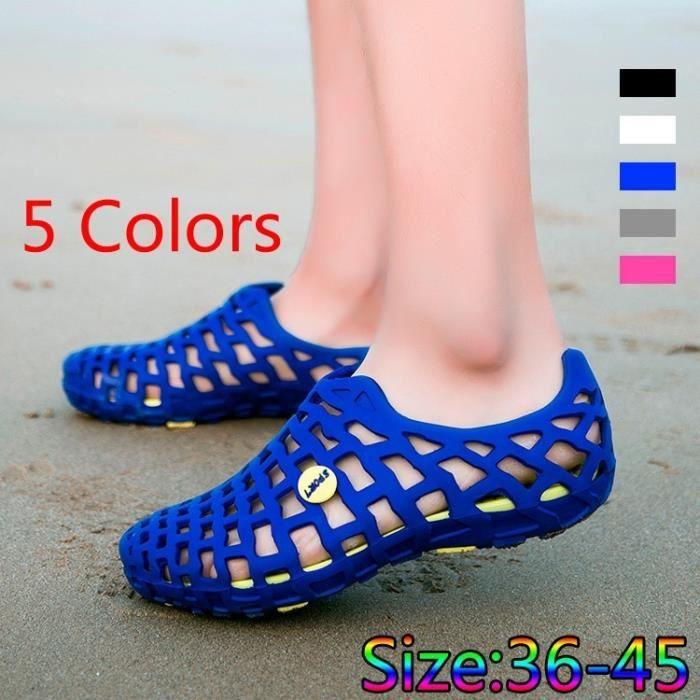 Hommes et femmes Chaussures respirante Couple Mode sandales de plage évider Chaussures Taille Plus EU36-45 US5.5-11