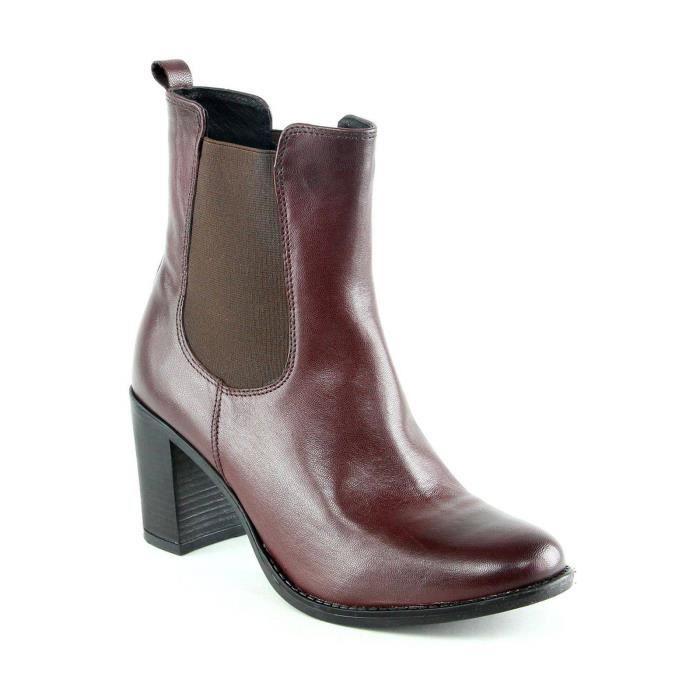 Donna - Boots en cuir - bordeaux