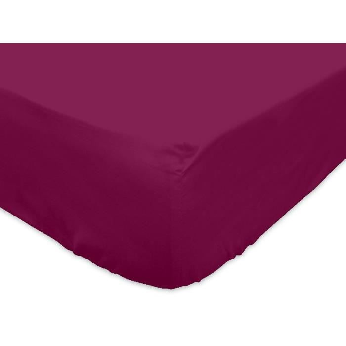 SOLEIL d'OCRE Drap housse 100% Coton 90x2