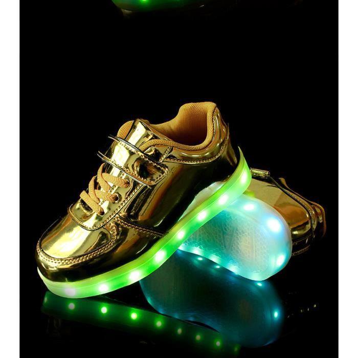 Basketchaussures voyant de charge USB chaussures en cuir magiques de chaussures pour enfants enfants garçons et filles chaussures