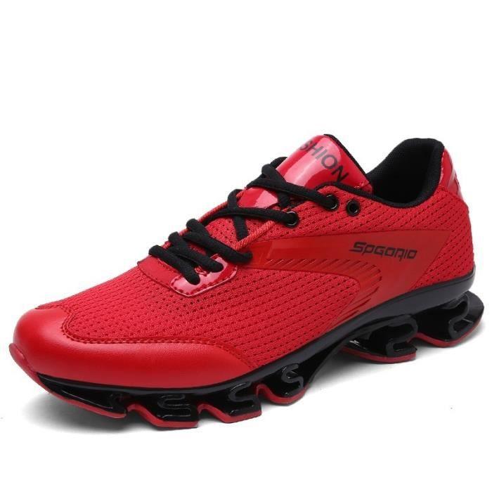 Basket MT-XZ19-40-Red-WA3 Rouge 7 Mode Casual à lacets de lame durable Antidérapante Semelle en caoutchouc Courir des et de basket-b QHaokSxa