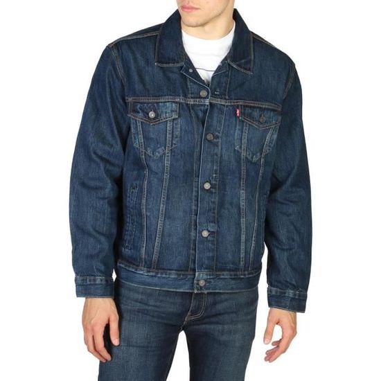 4713c488417a1 Veste en jean Levi s The Trucker en coton mélangé bleu indigo à effet  délavé Bleu Bleu - Achat   Vente jeans - Soldes  dès le 9 janvier !  Cdiscount