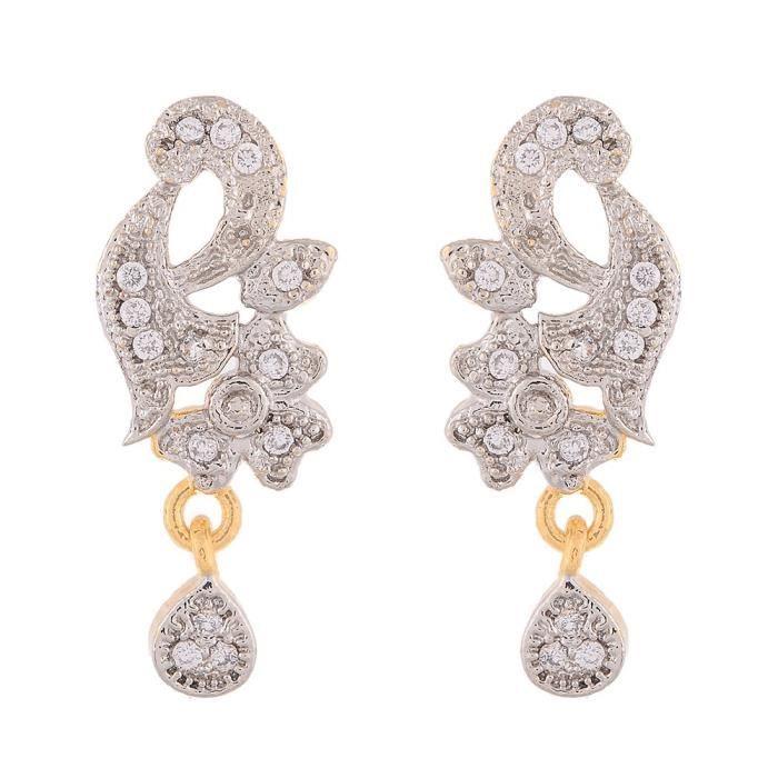 Femmes American Pride diamant plaqué or galsutra Pendentif avec chaîne et Boucles doreilles pourRMOJB