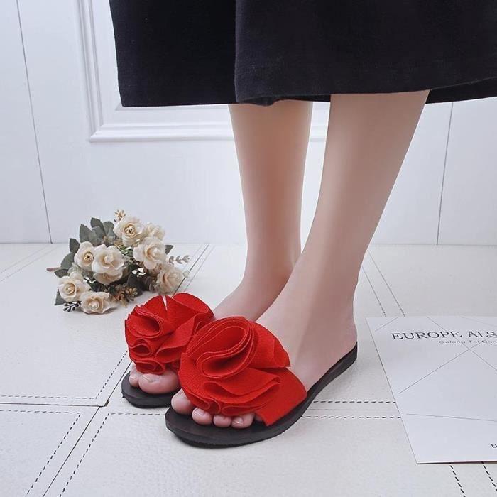 sandales femmes plate mode décontractée respirant de plage de fleurs