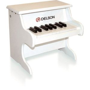 DELSON Piano bebe blanc 18 touches