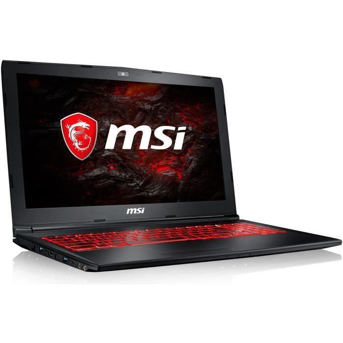 ORDINATEUR PORTABLE MSI PC Portable GL62M 7REX-2616XFR - 15,6'' FHD -