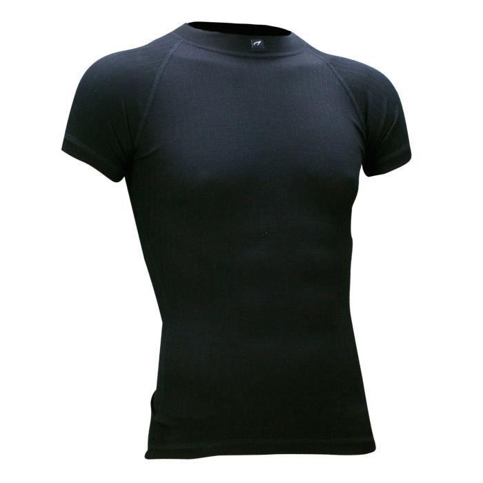 AVENTO Sous-vêtement thermique Manches Courtes - Homme - Noir - Prix ... ad28be1f4023