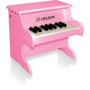 PIANO DELSON Piano bebe rose 18 touches