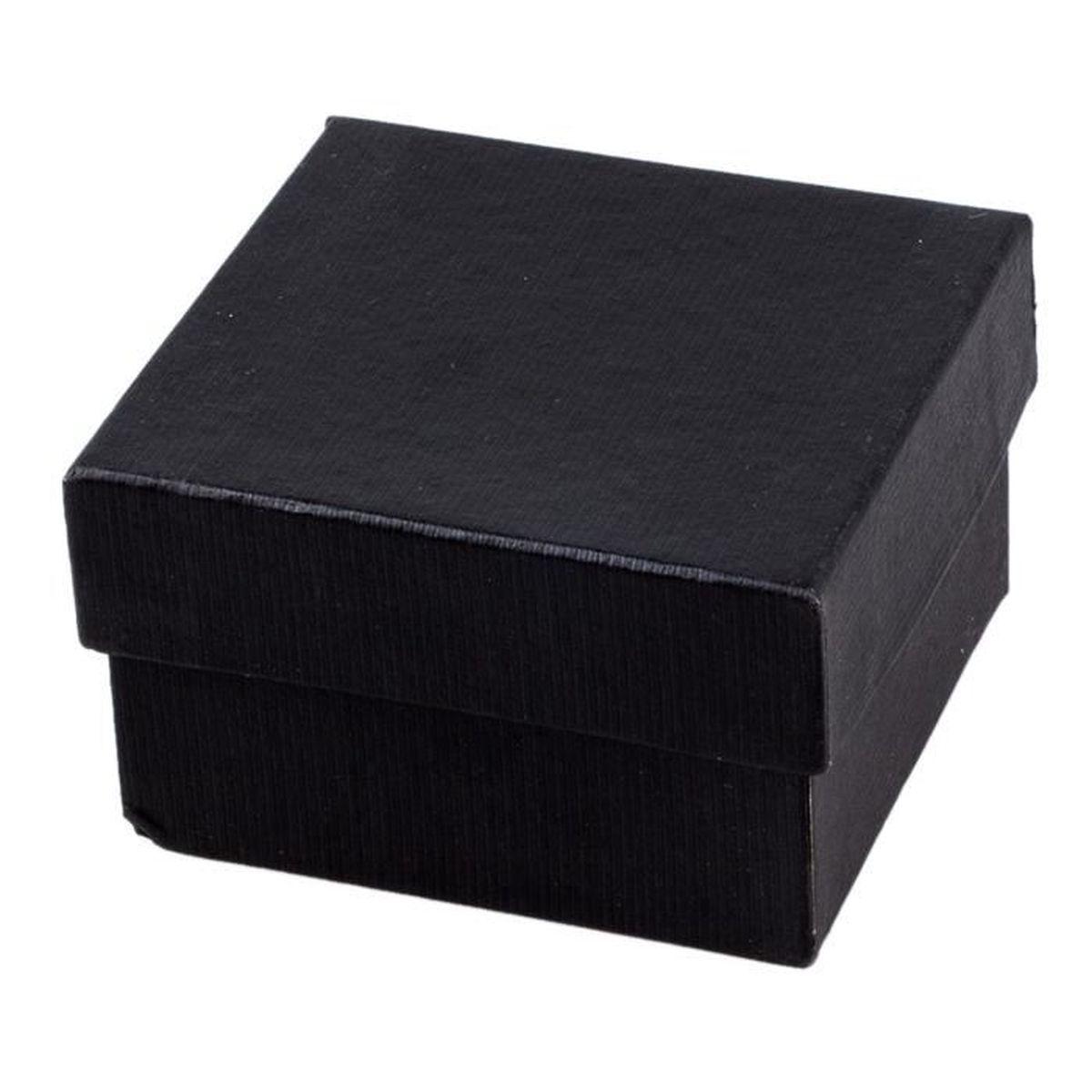 boite carre a montre de carton noir achat vente boite a montre mixte adulte cdiscount. Black Bedroom Furniture Sets. Home Design Ideas