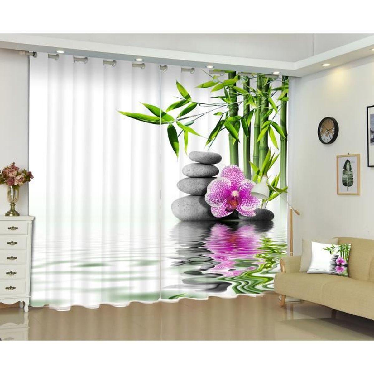 rideaux zen achat vente pas cher. Black Bedroom Furniture Sets. Home Design Ideas