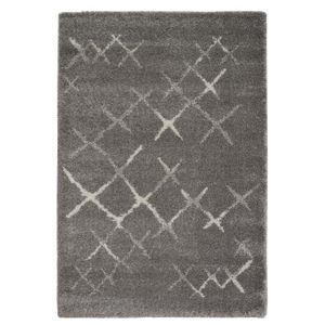 TAPIS Tapis de salon Wool style ethnique 160x230 cm gris