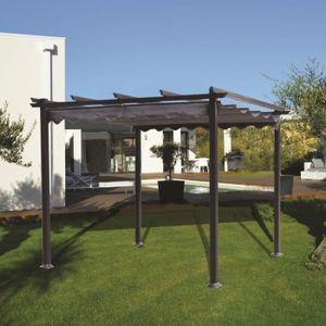 malaga pergola 3x3 en aluminium achat vente tonnelle barnum pergola 3x3 en aluminium. Black Bedroom Furniture Sets. Home Design Ideas