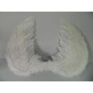 ACCESSOIRE DÉGUISEMENT 1 paire ailes d'ange à plumes blanches enfant 60cm