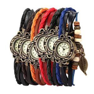 BRACELET DE MONTRE TPT50402021A 6PC Femmes Bracelet Weave Wrap Quartz
