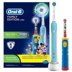BROSSE A DENTS ÉLEC Brosse à dents ORAL-B - PACK PRO FAMILLE • Hygiène