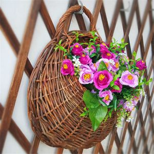PANIER A LINGE Panier Fleur Mural Plante Hydroponique Naturel Sus