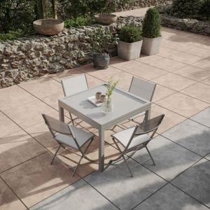 Table de jardin extensible 4 8 places - Achat / Vente pas cher