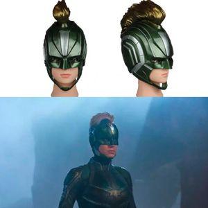 MASQUE - DÉCOR VISAGE 2019 Captain Marvel Masque Super héros Femmes Caro