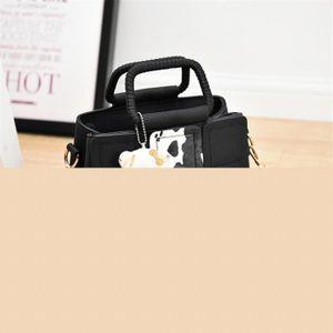 SAC À MAIN sac bandouliere En Cuir noir sac femme Sac Marque