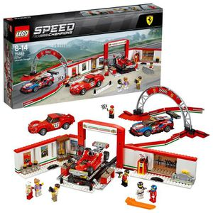 ASSEMBLAGE CONSTRUCTION LEGO Speed Champions - Le stand Ferrari - 75889 -