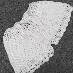 Plage Stretch Ajourées Crochet Casual Bandage Femmes Short Taille 1fXzgx