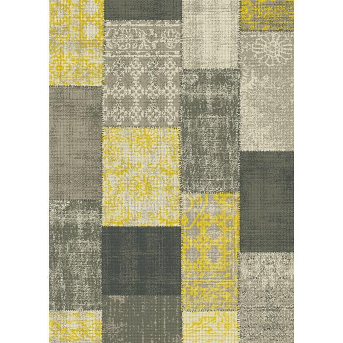 tapis de salon vintage puzzowork 160x230 cm - Tapis Vintage