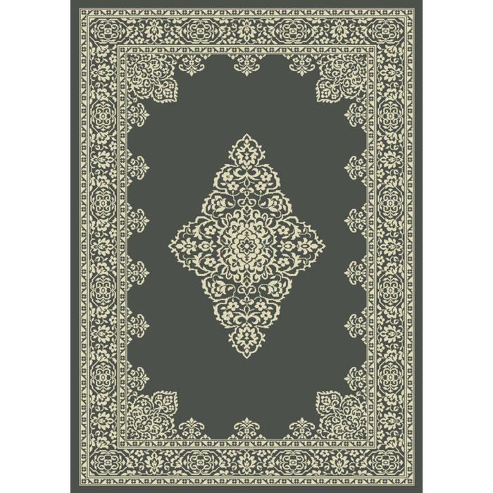 Tapis de salon vintage - Très doux et confortable - Dimensions : 160x230 cm - Coloris : noirTAPIS - DESSOUS DE TAPIS