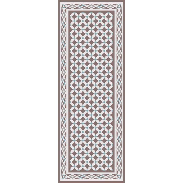 Matière : 100% polyamide - Dimensions : 67x180 cm - Densité : 1250gr/m² - Coloris : beige, blanc et bleuTAPIS DE COULOIR - TAPIS DE PASSAGE