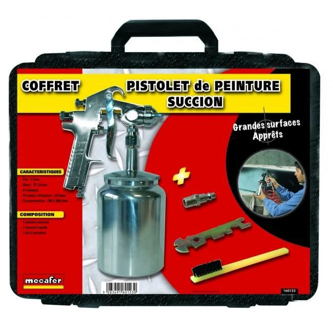 MECAFER Kit pistolet peinture succion pneumatique