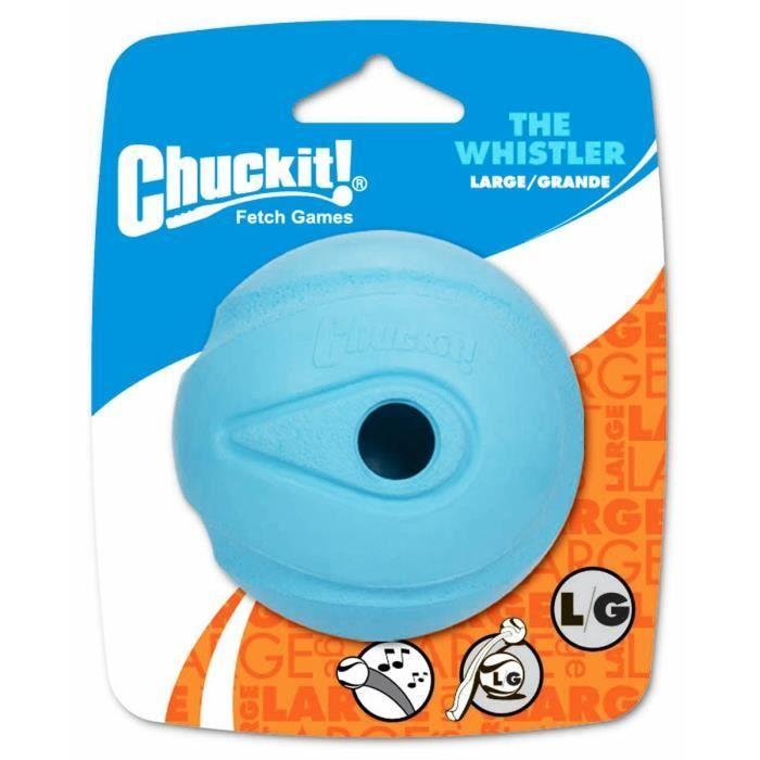 CHUCKIT! The whistler 1-PK - Balle qui siffle L en caoutchouc Ø 7,5cm - Pour chien