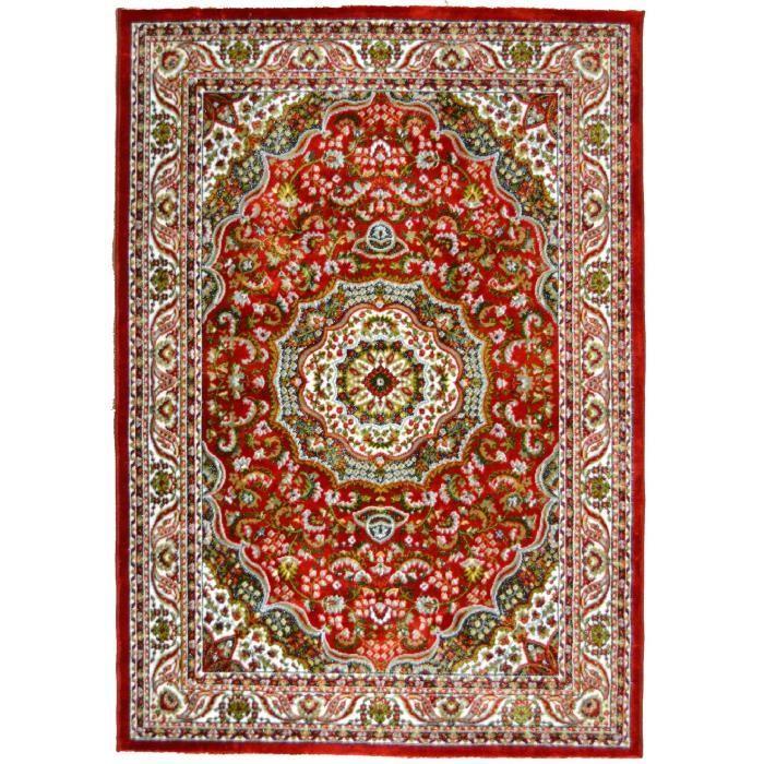 Matière : 100% polyester - Dimensions : 160x230 cm - Densité : 1600 gr/m² - Coloris : rougeTAPIS - DESSOUS DE TAPIS